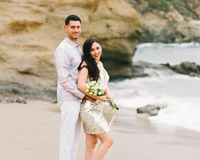 engagements portfolio orange county laguna beach victoria beach latino couple cliffs